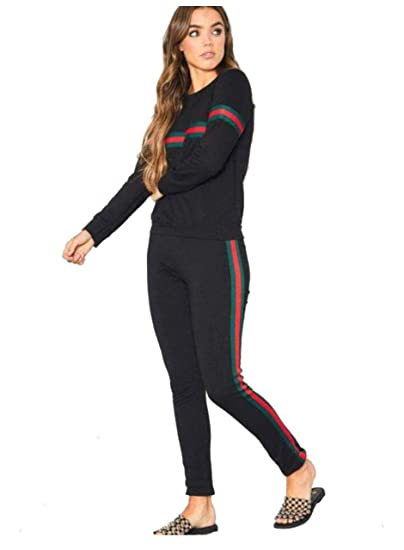 DDM_Clothing Women\u0027s Tracksuit Set (Black ; Free Size ; Bust Up to 36,  Waist Up to 34)