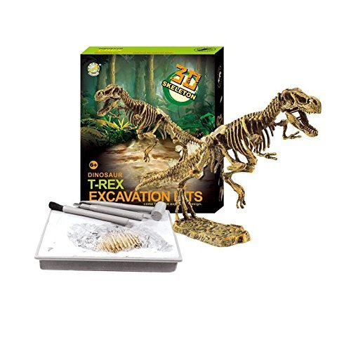 Dinosaur Skeleton 3D Dino Fossil Bones Excavation Science Kit - Tyrannosaurus Rex -