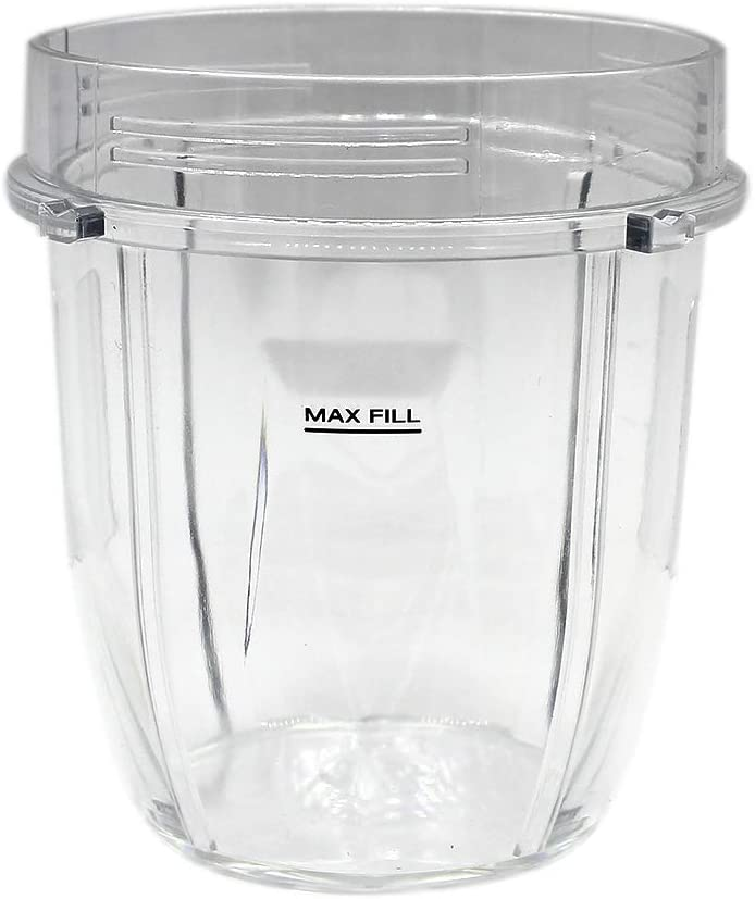 Anbige Replacement Parts 12oz Cup Jar, Fits Nutri Ninja Blenders BL480 BL2012(1 12oz cup)