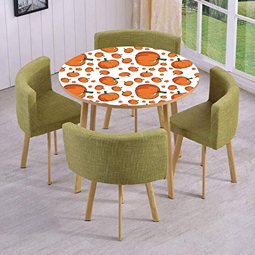 (iPrint Round Table/Wall/Floor Decal Strikers/Removable/Halloween Inspired Pattern Vivid Cartoon Style Plump Pumpkins Vegetable Decorative/for Living Room/Kitchens/Office)