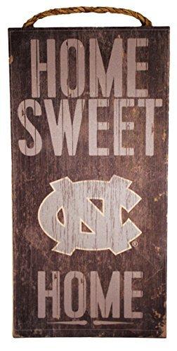 Fan Creations Cartel de Madera para casa Dulce o hogar de la NCAA North Carolina Tar Heels 6' x 12'