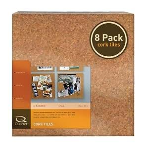 Quartet Cork Tiles, Natural, 12 Inch x 12 Inch, Frameless, 8 Pack (108)
