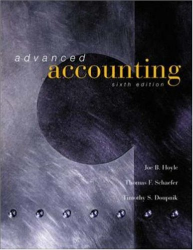 Advanced Accounting, 6th Edition, hc, 2001