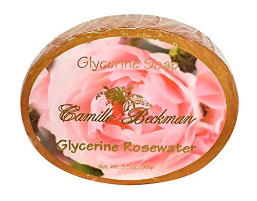 Rose Glycerin Soap - Camille Beckman Glycerine Bar Soap, Glycerine Rosewater, 3.5 oz