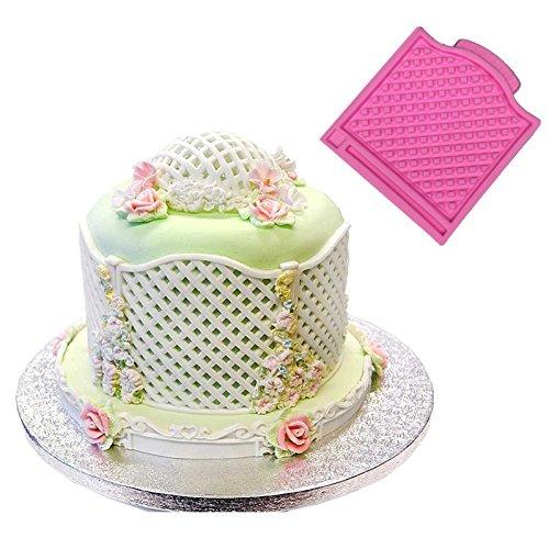Trellis Fence Basket Silicone Mould Fondant Cake Molds Wedding Decoratings Cupcake Christmas Confeitaria Kitchen Accessories Ningbo Easybaking FS-027