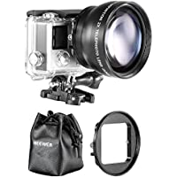 Neewer 52MM High Definition Telephoto Lens Kit for Gopro Hero 3+/4 (4 Items)