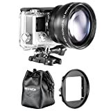 Neewer 52MM High Definition Telephoto Lens Kit for Gopro Hero 3+ 4 (4 Items)