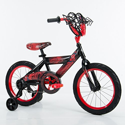 """16"""" Marvel Spider Man Bike by Huffy, Ages 4 6, Height 42 48"""""""