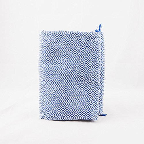 sansukjai-100-cotton-deep-blue-soft-hand-woven-blanket-mattress-cover-size-110-cm-x-200-cm