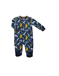 Kushies Baby Basic Sleeper, Navy Dinosaurs, 3 Month