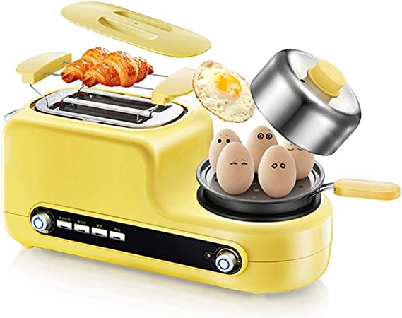 NYKK Panificadora Inicio tostadora multifunción Desayuno Máquina automática Tostadora Tostadora (Color: Amarillo Lindo) Robot de Cocina con Kitchen Craft: Amazon.es