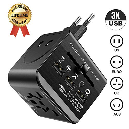 International Power Adapter Universal Travel Adapter LEGIRAL All in One Worldwide Wall Charger AC Power Plug Adapter…