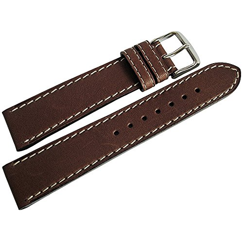 Di-Modell Jumbo 18mm Brown Leather Watch Strap by Di-Modell