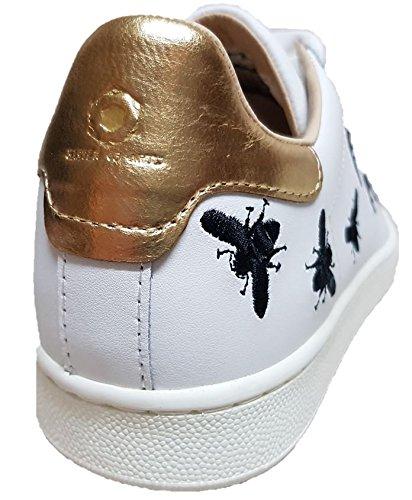 Moa Maitre Des Arts M645 Sneaker Api Nere Action Cuir Blanc