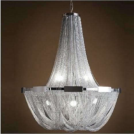 GOWE aluminio cadena Luxury colgante luces Luminaria ...