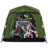 Quictent Pop Up Automatic Rod Bracket Heavy Duty Quick Setup Bike Tent Storage Shed with Waterproof and Anti-UV Protection Hood