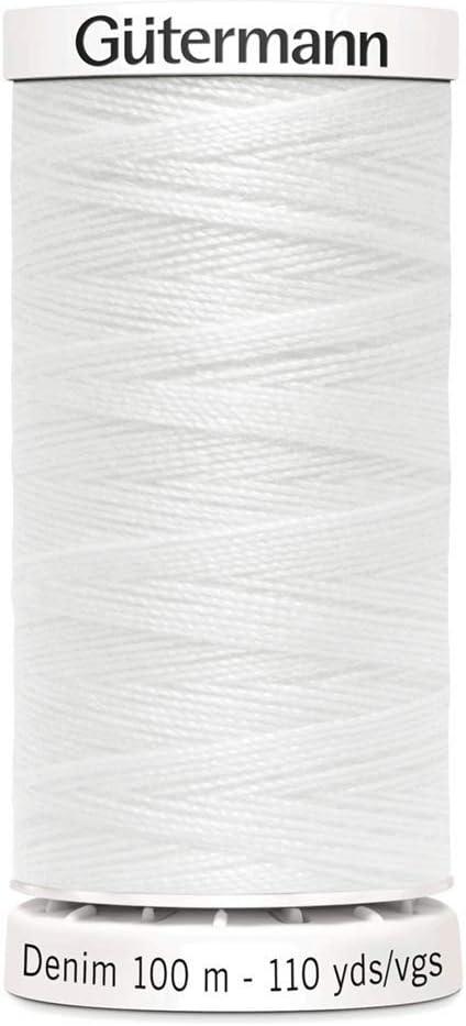 Gutermann Hilo de coser vaquero, color blanco, talla única: Amazon ...