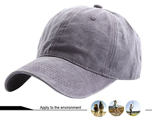 del con Sol Béisbol Mujer Visera AIEOE para Protección School Hombre Cap Old Gris Transpirable Sombrero Ajustable 0YSwFqtB