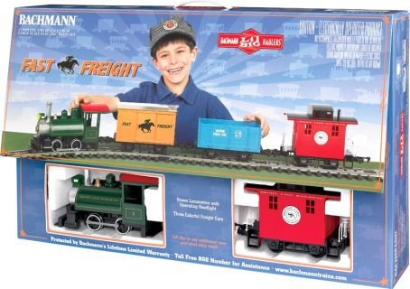 Bachmann Industries Li'l Big Haulers Fast Freight G-Scale RTR Train Set, Large