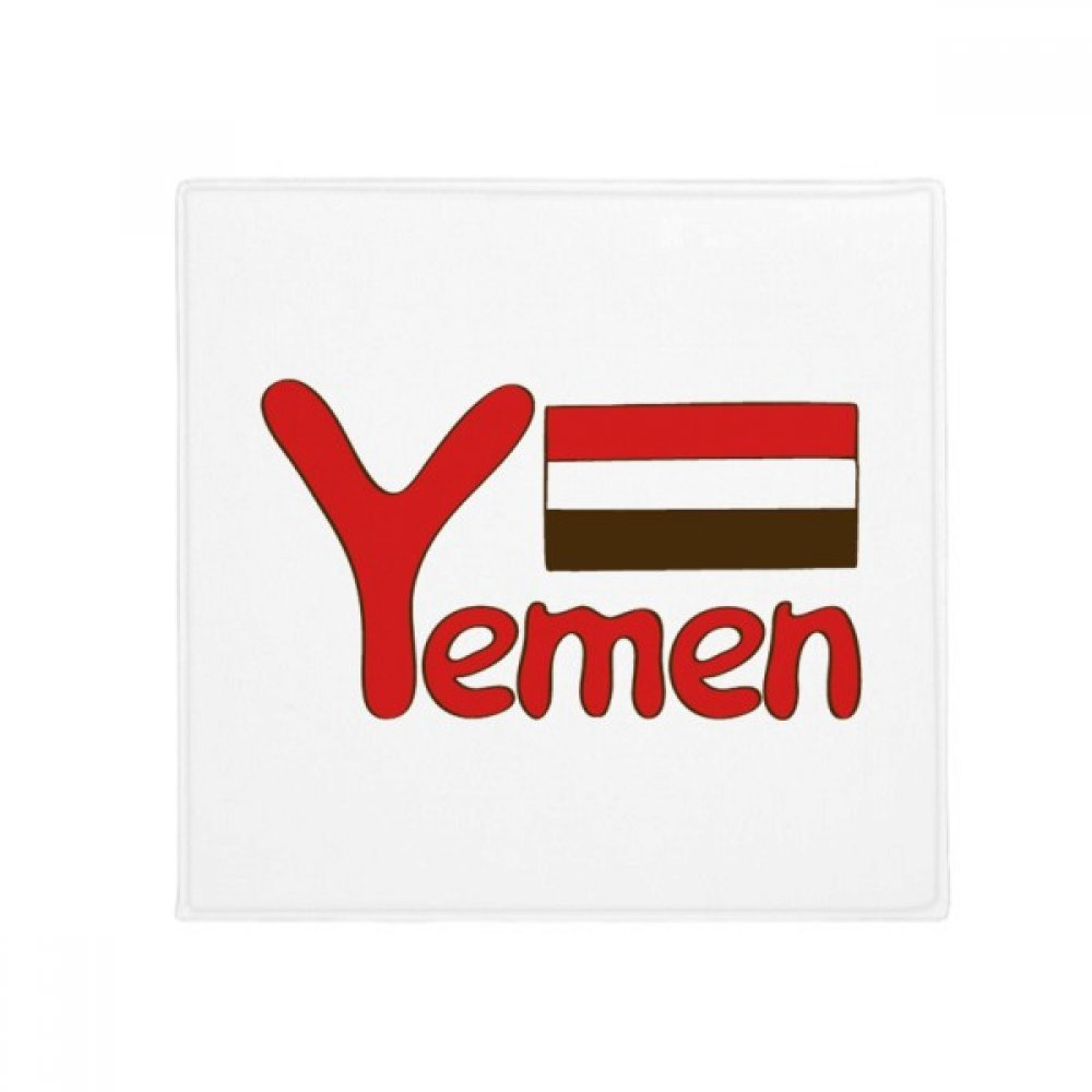 DIYthinker Yemen National Flag Red Pattern Anti-Slip Floor Pet Mat Square Home Kitchen Door 80Cm Gift