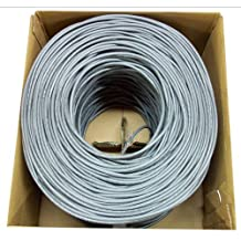 Konex (TM) 1,000 ft Cat 5e cat5e Ethernet LAN Cable Wire UTP Pull Box 1,000ft Cat-5e Grey (FREE SHIPPING)