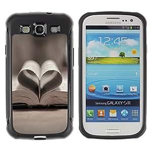 Suave TPU GEL Carcasa Funda Silicona Blando Estuche Caso de protección (para) Samsung Galaxy S3 III I9300 / CECELL Phone case / / Love Book Love /