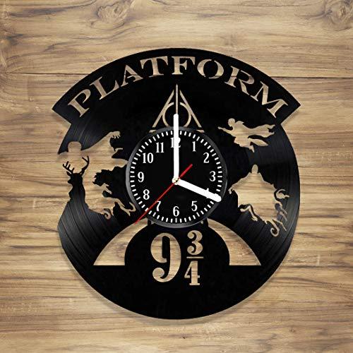 Harry Potter Hogwarts Creative retro nostalgia Vinyl Record Wall Clock For home