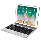 iPad 2nd 3rd 4th Generation Keyboard Case with Powerbank, Clamshell-Style Wireless Bluetooth Keyboard Built-in 2800mAh Rechargeable Move-Power-Supply, iPad 2 3 4 Protective Hard Case&Cover (Silver)