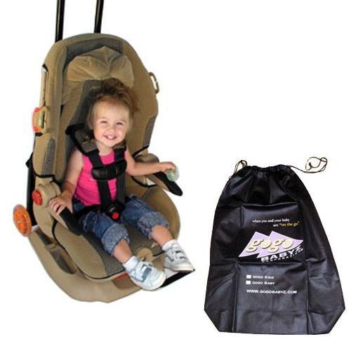 Travelmate Car Seat Attachment (Gogo Babyz Kidz Travel Mate Stroller Attachment with Free Travelmate Storage Bag)