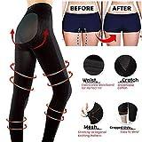 Stretchy Sculpting Sleep Leg Shaper Pants Legging Socks Women Thigh Slimmer Waist Breathable Bodysuit Shaper Panties Trousers (M, Black)