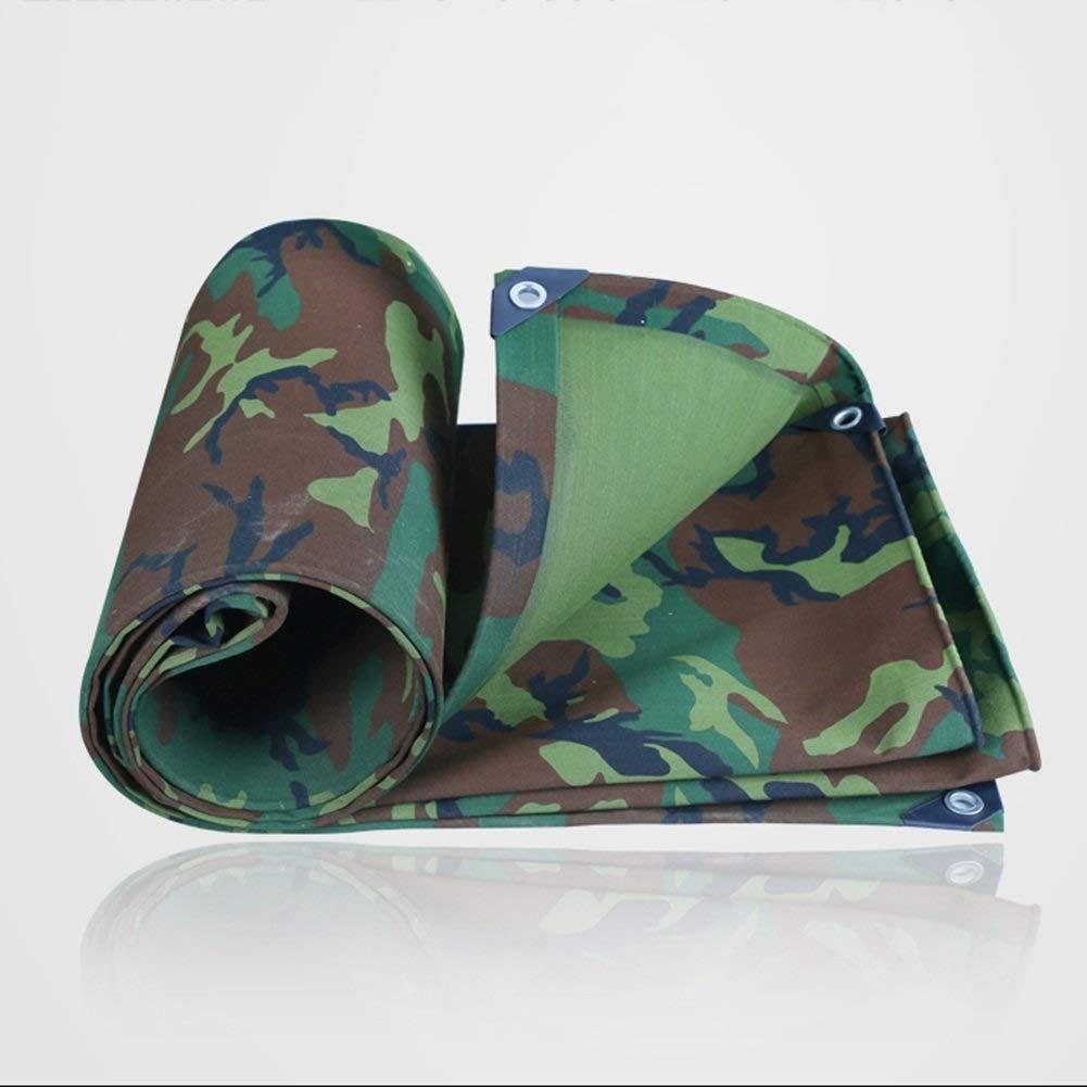 vert 3x5m ZXZXI BÂche Coupe-Vent Camouflage Double Face Tissu Store Pluie Camping Un Camion Pique-Nique Tente 500g   M2 avec Boutonnière (Couleur   vert, Taille   1.5x3m)
