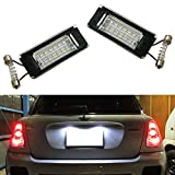 iJDMTOY OEM Fit Xenon White LED License Plate Lamps For 2006-2014 2nd Gen MINI Cooper R56 R57 R58 R59