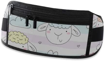 Travel Waist Pack,travel Pocket With Adjustable Belt Cute Pattern Funny Sheep Running Lumbar Pack For Travel Outdoor Sports Walking
