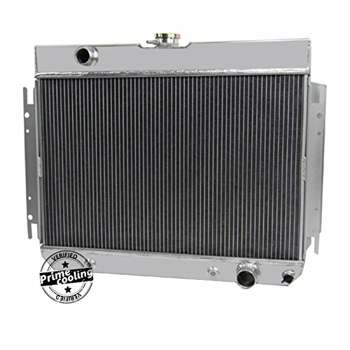 Chevy El Camino Radiator Core (Primecooling 3 Row All Aluminum Radiator for Impala Chevelle /Many Chevy GM Gars 1963-68)