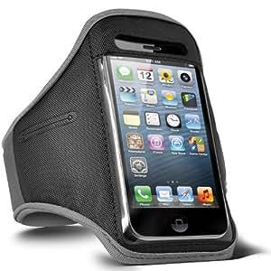 ONX3 Uno M7 Ajustable Deportes Gimnasio Jogging caja del brazal de HTC (Negro)