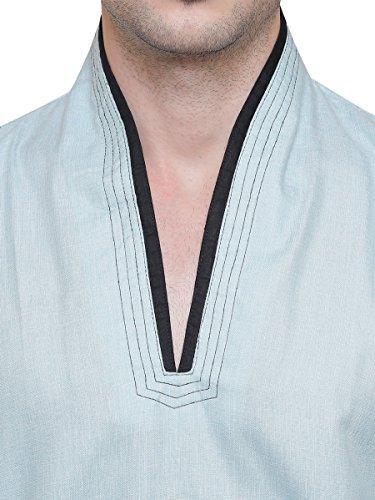 Maple-Clothing-Cotton-Mens-Short-Kurta-Shirt-India-Traditional-Apparel