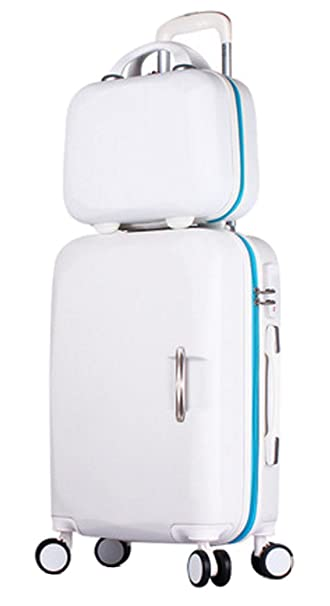 8f0bc92ab374 Song Luggage Spinner Luggage ABS Trolley Travel Lightweight Hardshell  Suitcase - 20 Inch White Set
