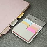 KKMO Index Divider Sticky Notes Paper Tabs, 90 Blank Notes per Pack, Assorted Size, 6 Colors, 1 Pack