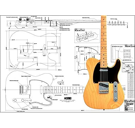 [ANLQ_8698]  Amazon.com: Plan of Fender Telecaster Electric Guitar - Full Scale Print:  Musical Instruments   Fender American Standard Telecaster Wiring Diagram Free Picture      Amazon.com