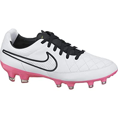 Nike Womens Tiempo Legacy Firm Ground (WHITE PINK POW) (9.5) 9649515973
