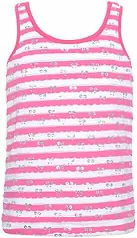 f9221ba3368 Lipstik Little Girls Pink White Striped Paillette Top Camisole 4-6X