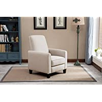 NHI Express Savannah Linen Push Back Full Arm Recliner, Beige