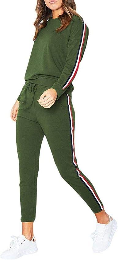 US Womens Velvet Tracksuit Set 2pcs Tops+Pants Suit Winter Sweatshirt Hoodies