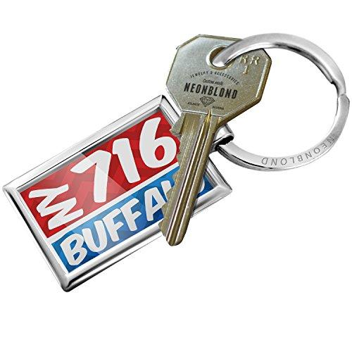 - NEONBLOND Keychain 716 Buffalo, NY red/blue