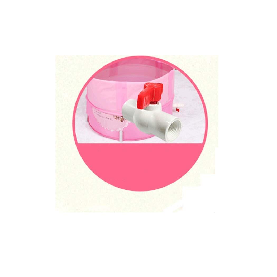 YONGYONG Chinese Style Pink Elegant Bathtub Bath Tub 60 * 60cm (Color : Pink) by Yongyong (Image #2)