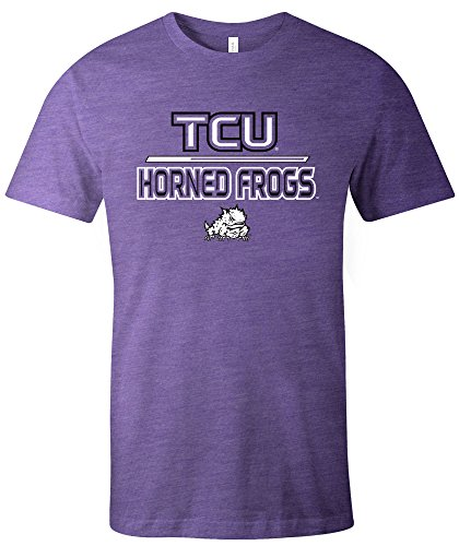 Tcu College Football (NCAA TCU Horned Frogs Adult Unisex NCAA Reverse Short sleeve Triblend T-Shirt,Large,Purple)