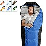 FARLAND Camping Sleeping Bag Envelope Mummy Outdoor Lightweight Portable Waterproof Perfect For 20 Degree TravelingHiking ActivitiesDark Blue BlackRight Zip Mummy