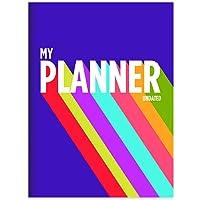 Purple Rainbow Undated Medium Monthly Planner