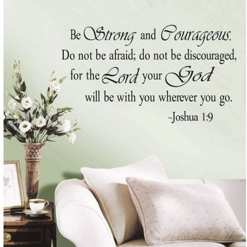 Cheap  Decalgeek DG-BSC-1 Be Strong and Courageous Do Not Be Afraid Joshua 1:9..