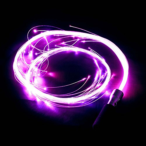 Fibreflies PixelWhip Rev4 FIBRE OPTIC Glow Whip + Travel Bag! Western Style Skill Whips by Juggle Light (Image #2)